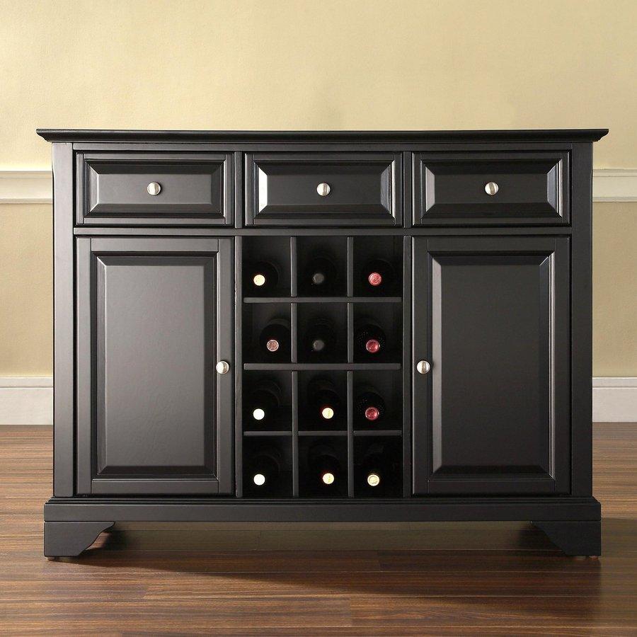 Crosley Furniture Lafayette Black Rectangular Buffet
