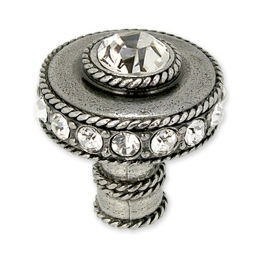 Anne at Home Northern Lights Pewter Bright Round Cabinet Knob