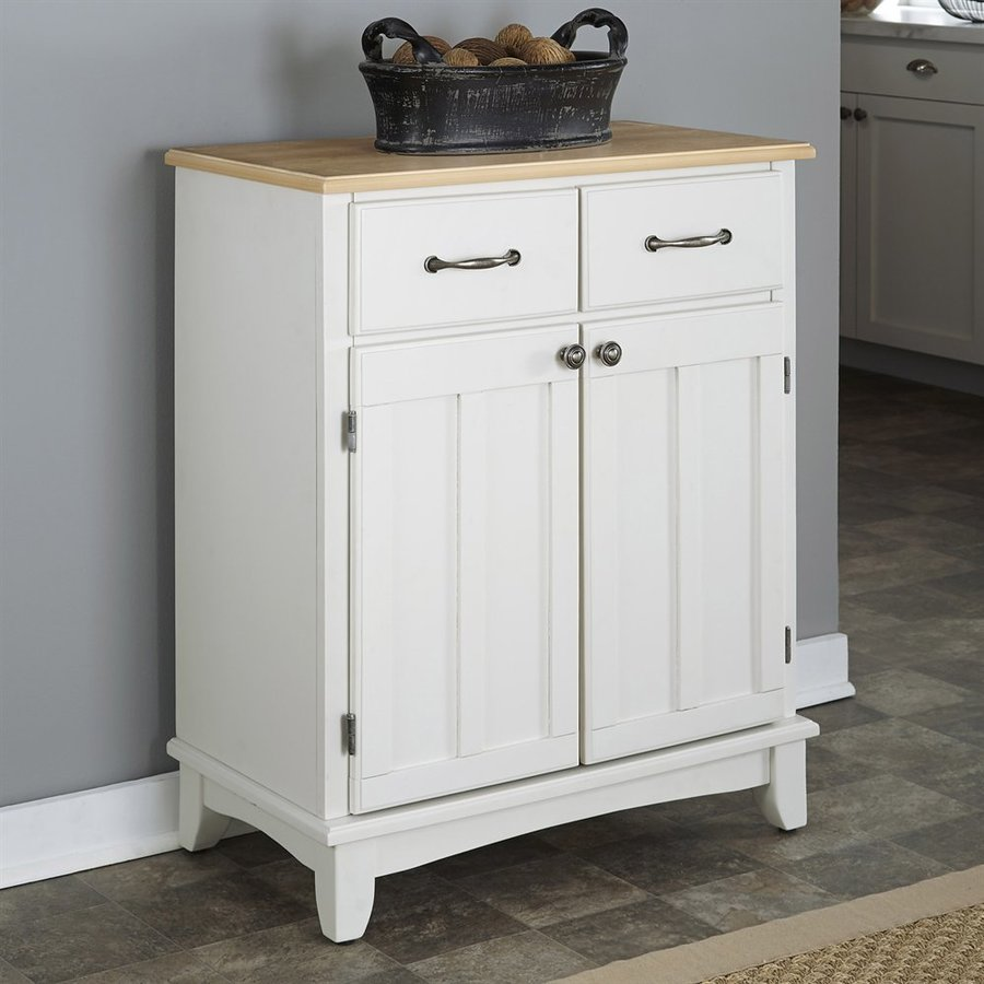 Home Styles White/Natural Sideboard