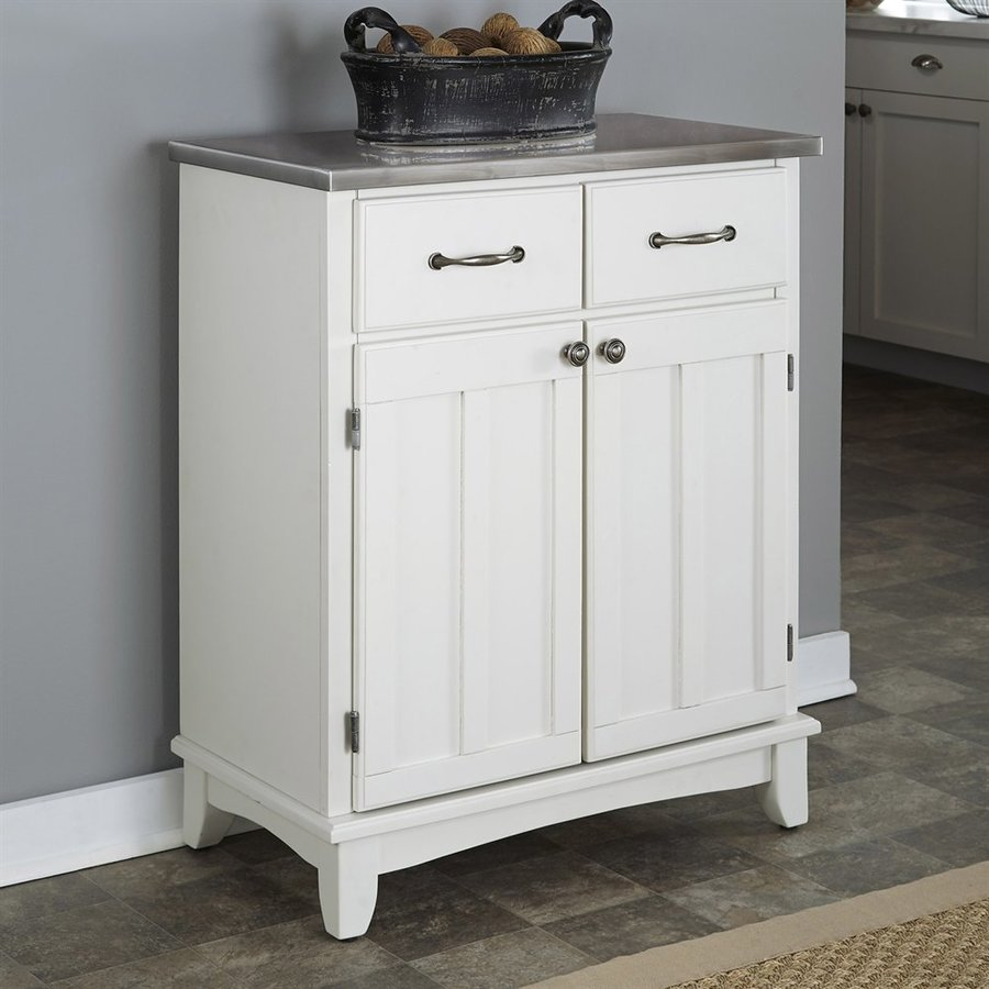 Home Styles White/Stainless Buffet
