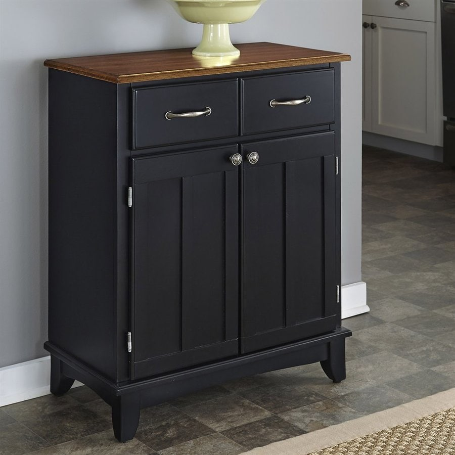 Home Styles Black/Cottage Oak Sideboard