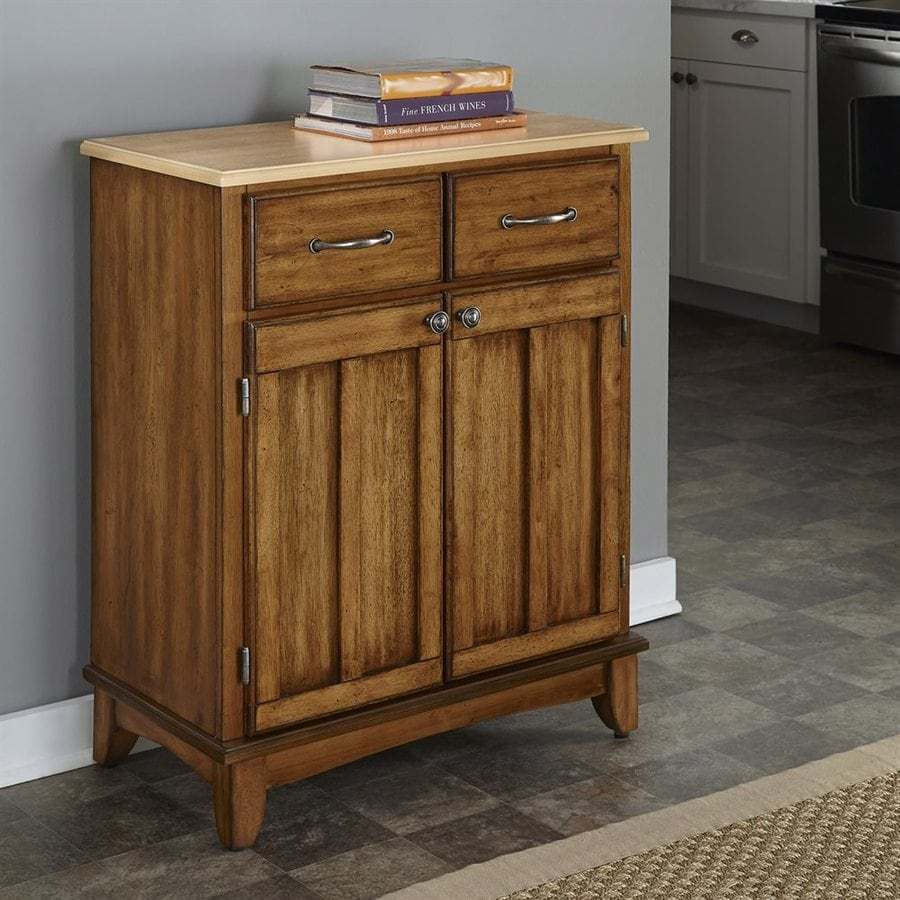 Shop home styles cottage oak natural sideboard at for Sideboard natur
