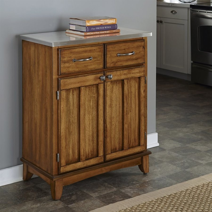 Home Styles Cottage Oak/Stainless Buffet
