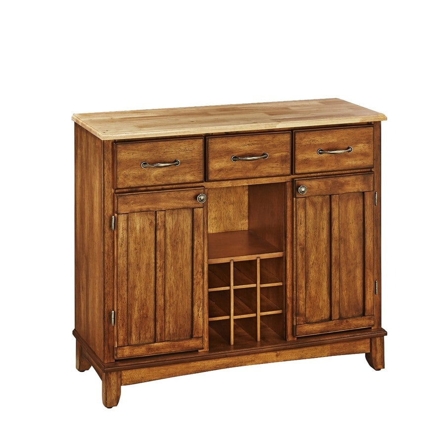 Home Styles Cottage Oak/Natural Sideboard with Wine Storage
