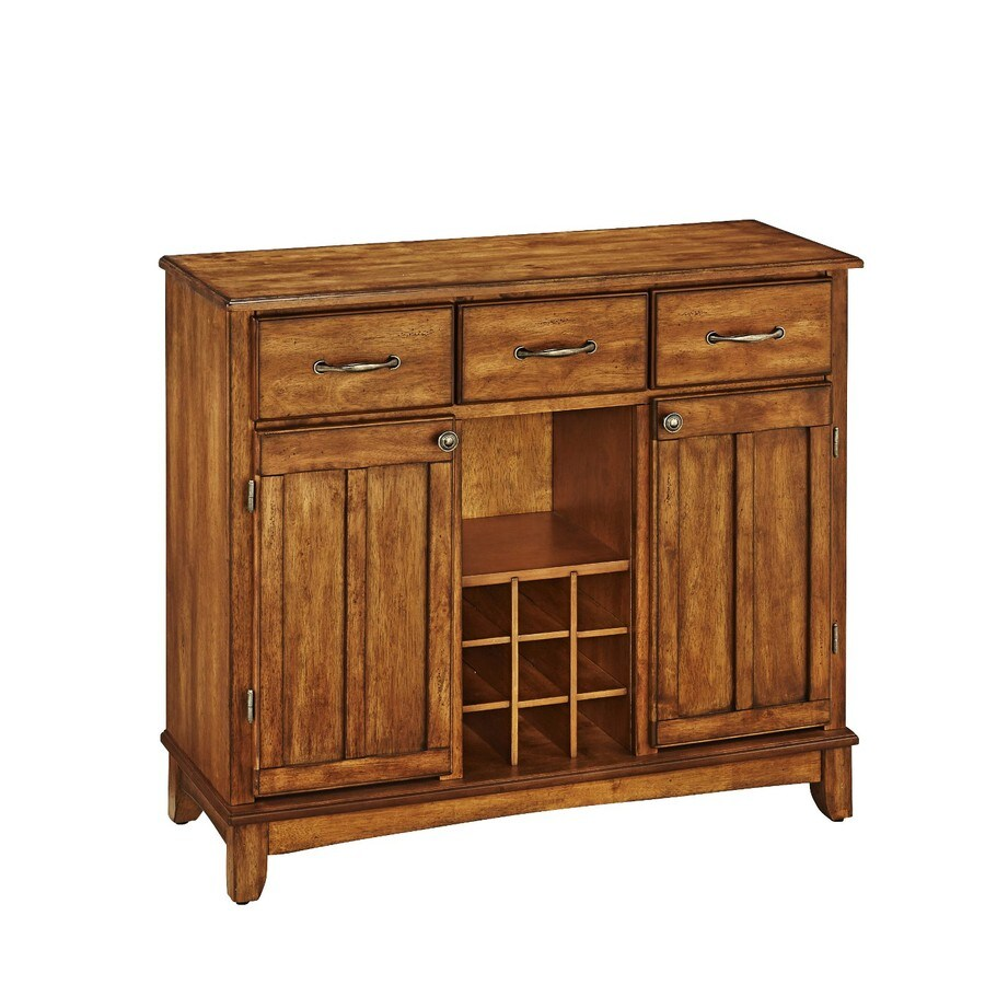 Home Styles Cottage Oak Sideboard with Wine Storage