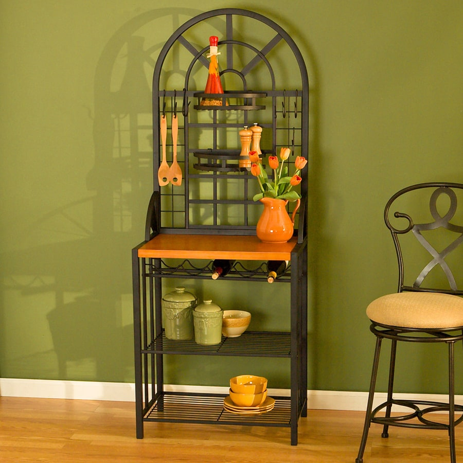 Boston Loft Furnishings Dome Black Rectangular Etagere