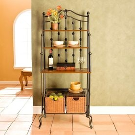 Boston Loft Furnishings Saint Pierre Black Metal Bakers Rack