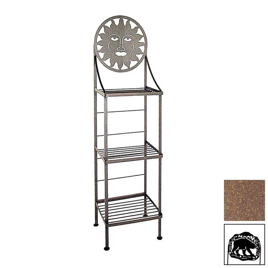 Grace Collection Silhouette Burnished Copper Rectangular Bakers Rack