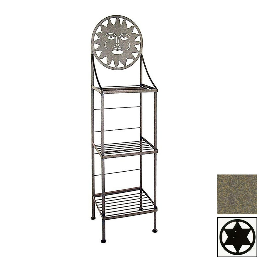 Grace Collection Silhouette Antique Bronze Rectangular Bakers Rack