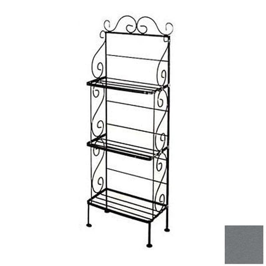 Grace Collection Gun Metal Rectangular Bakers Rack
