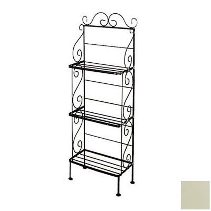 Grace Collection Ivory Metal Bakers Rack