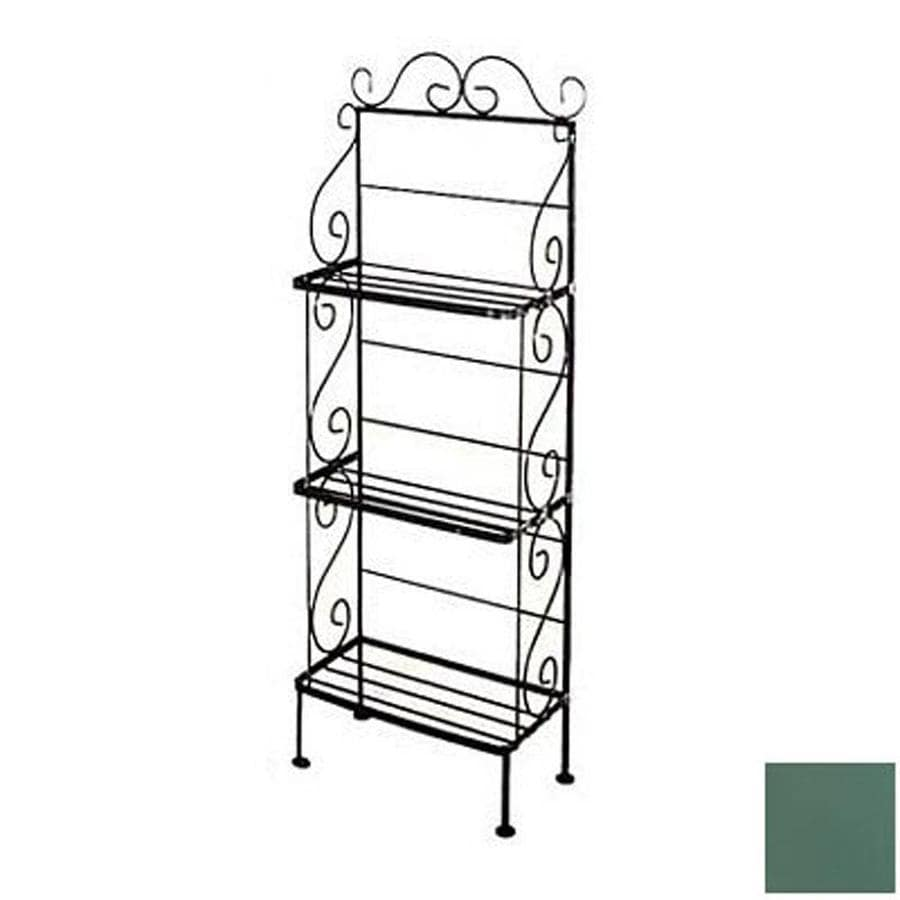 Grace Collection Jade Teal Metal Bakers Rack