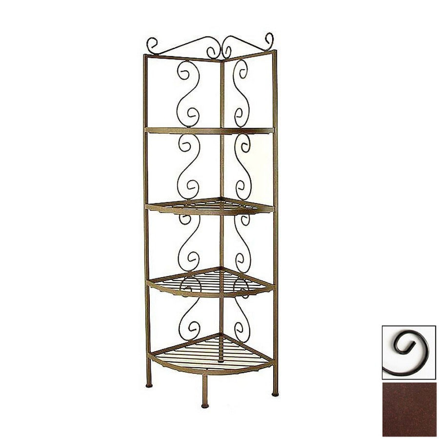 Shop Grace Collection Aged Iron Metal Bakers Rack At Lowes.com
