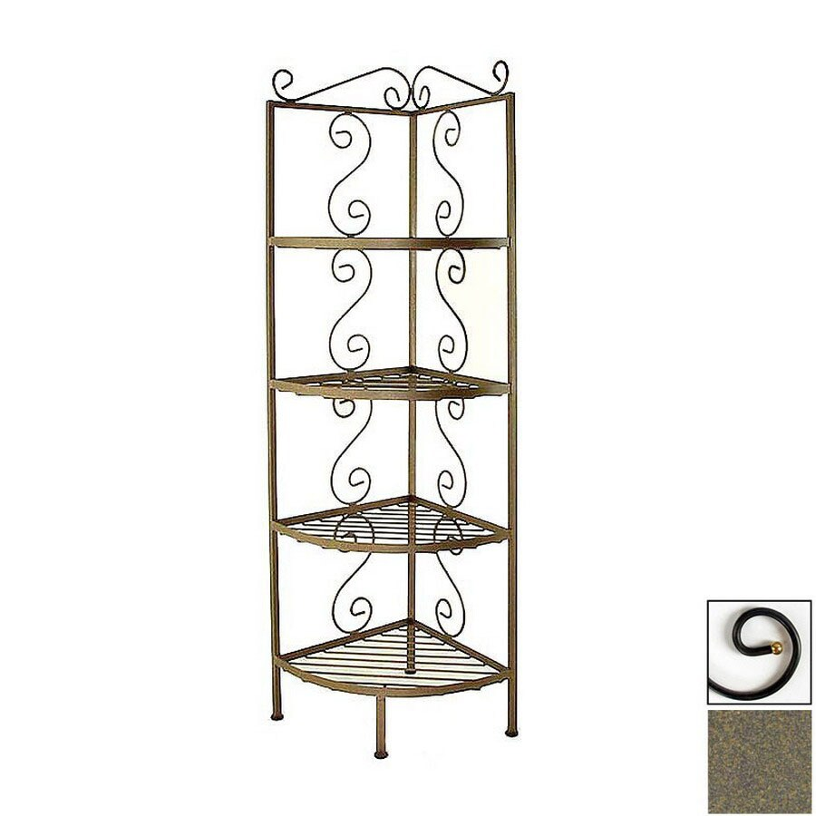 Grace Collection Antique Bronze Metal Bakers Rack
