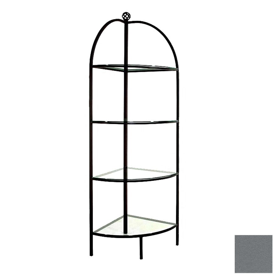 Grace Collection Gun Metal Corner Bakers Rack