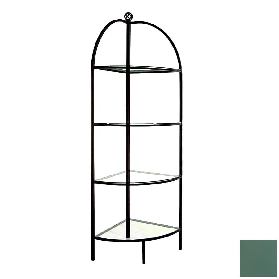 Grace Collection Jade Teal Corner Bakers Rack