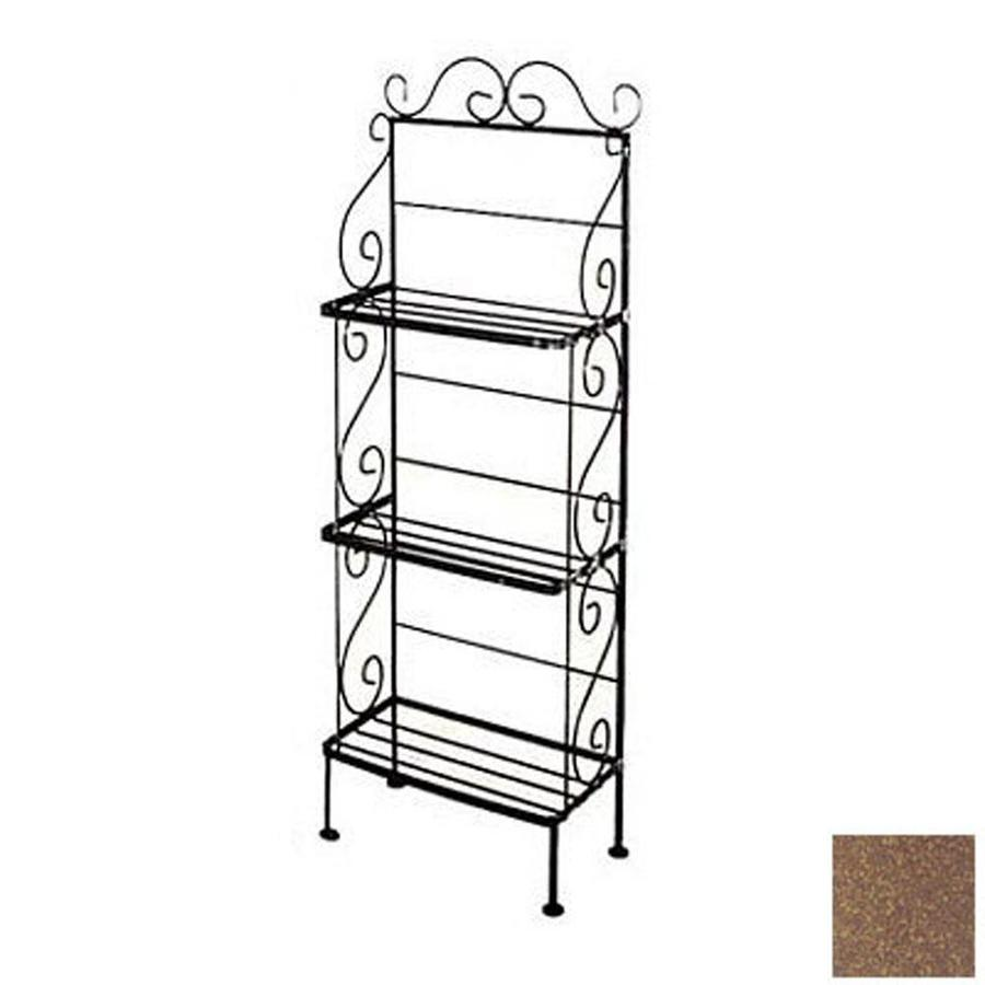 Shop Grace Collection Burnished Copper Metal Bakers Rack At Lowes.com