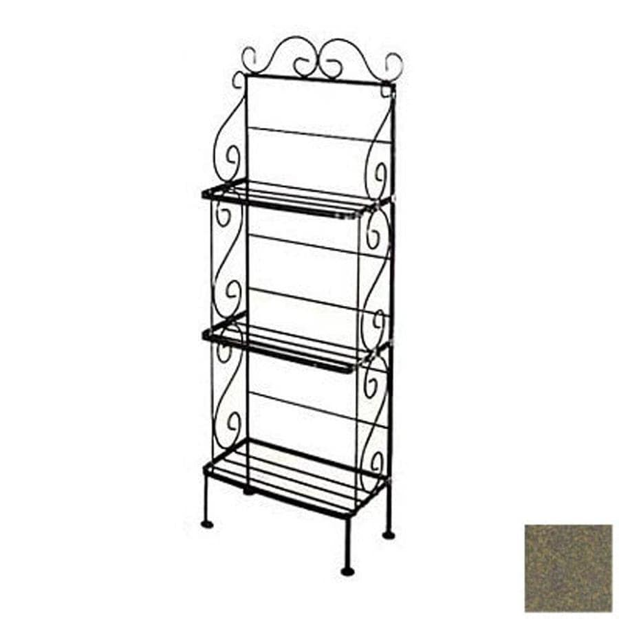 Grace Collection Antique Bronze Rectangular Bakers Rack