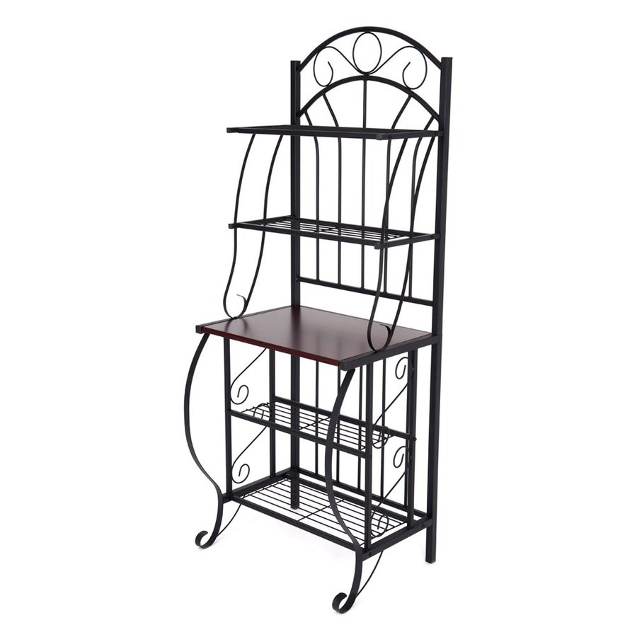 Shop Boraam Industries Valencia Black Metal Bakers Rack At Lowes.com