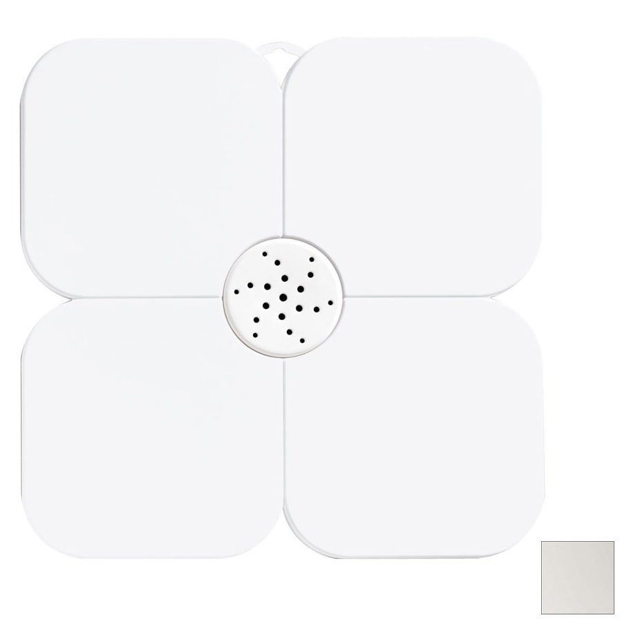 Nameeks Fiorilu 21.63-in x 21.63-in White Bath Mat