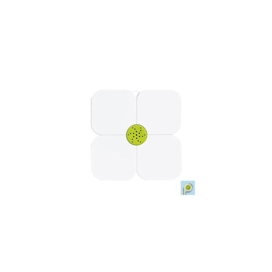 Nameeks Fiorilu 21.63-in x 21.63-in White/Green Bath Mat