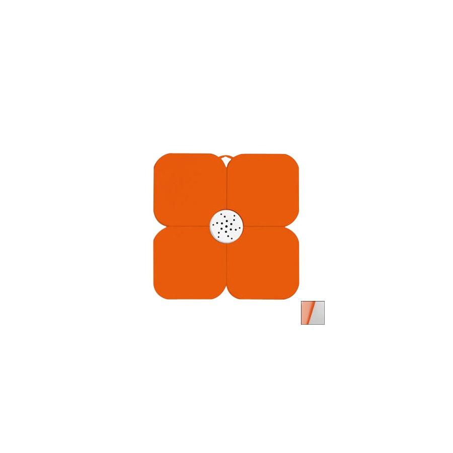 Nameeks Fiorilu 21.63-in x 21.63-in Orange/White Bath Mat