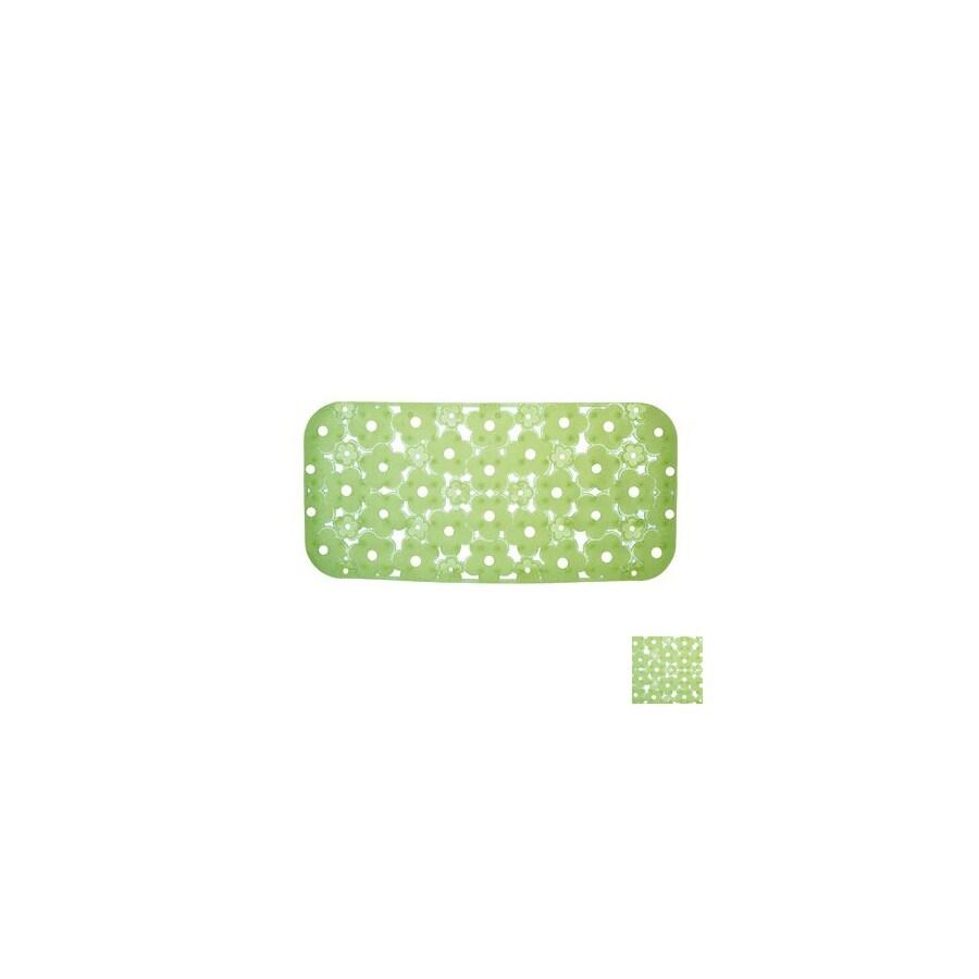 Nameeks Margherita 28.346-in x 17.771-in Green Vinyl Bath Mat