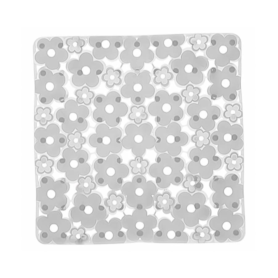 Nameeks Margherita 20.275-in x 20.275-in White Vinyl Bath Mat