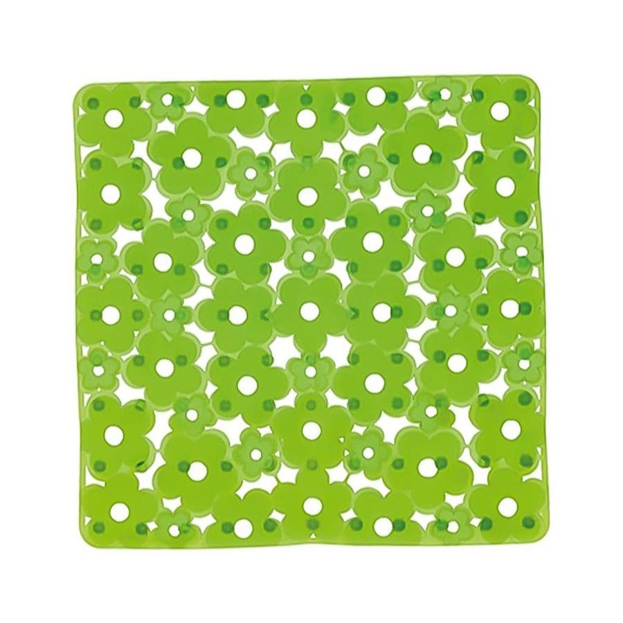 Nameeks Margherita 20.275-in x 20.275-in Green Vinyl Bath Mat