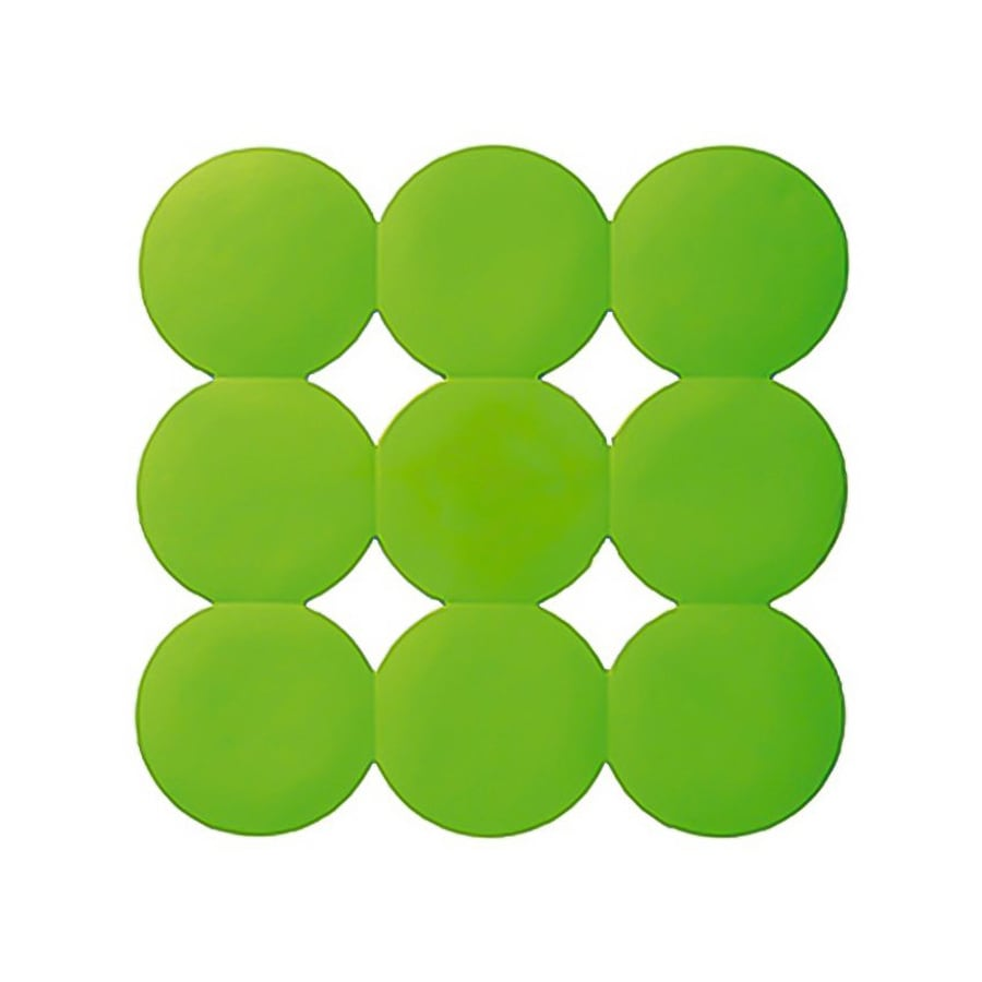 Nameeks Giotto 21.456-in x 21.456-in Acid Green Rubber Bath Mat