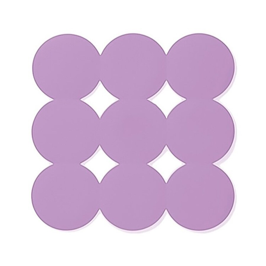 Nameeks Giotto 21.456-in x 21.456-in Lilac Rubber Bath Mat