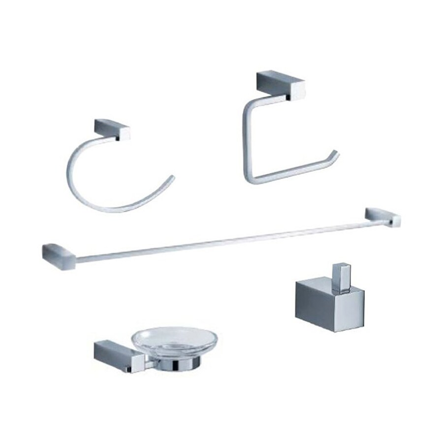 Beautiful  Piece Highlander Chrome Decorative Bathroom Hardware Set At Lowescom