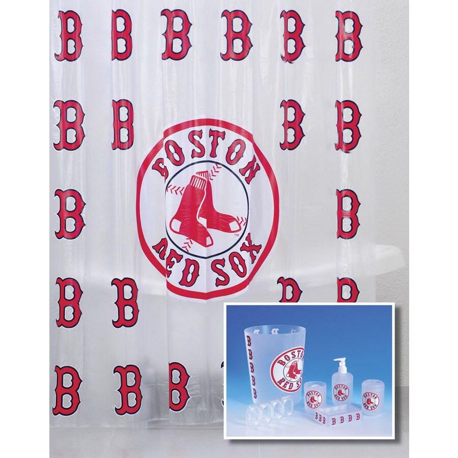 Belle View Boston Red Sox Frosty Plastic 7 Piece Bath Set
