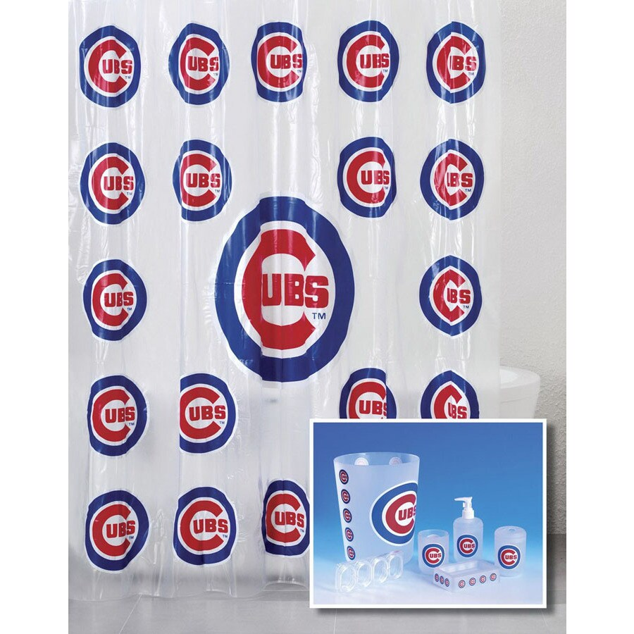 Belle View Chicago Cubs Frosty Plastic 7 Piece Bath Set