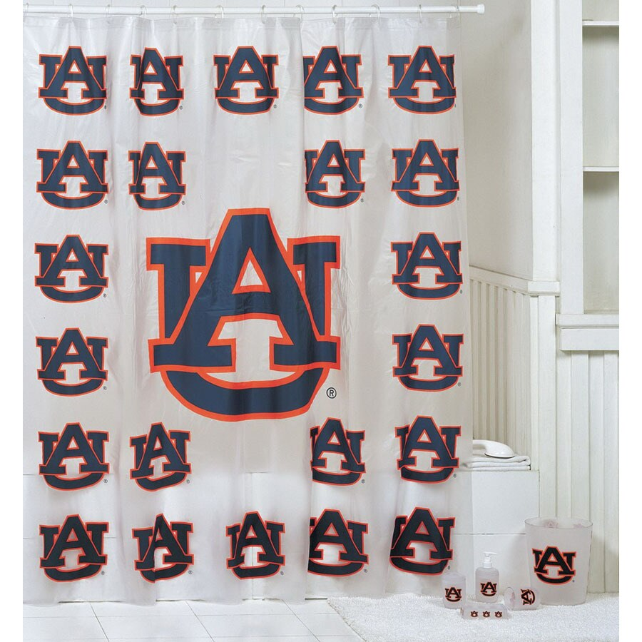 Belle View Auburn Tigers Frosty Plastic 7 Piece Bath Set