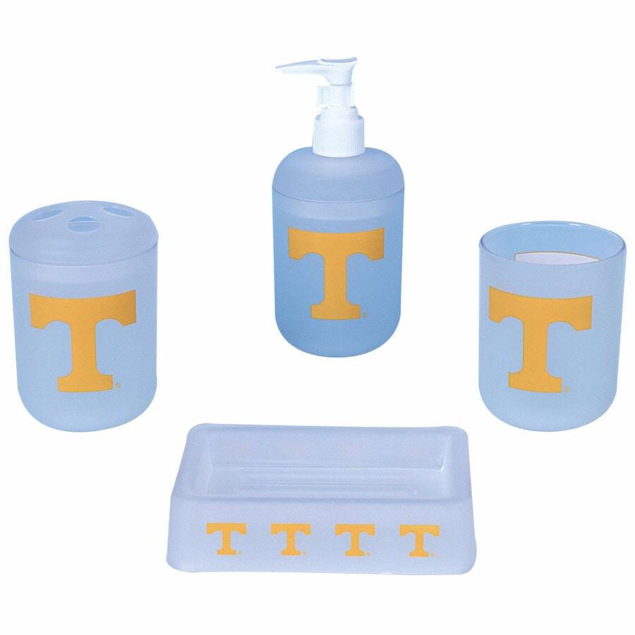 Shop Belle View Tennessee Volunteers Frosty Plastic 4-Piece Bath Set ...