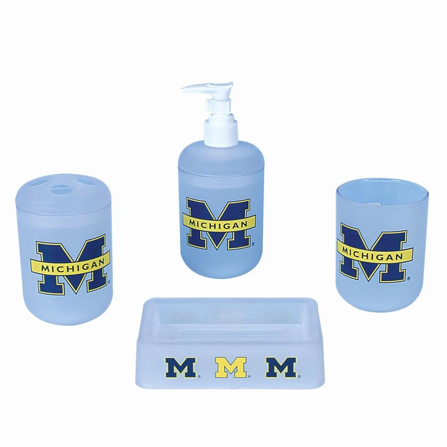 Shop Belle View Michigan Wolverines Frosty Plastic 4-Piece Bath Set ...