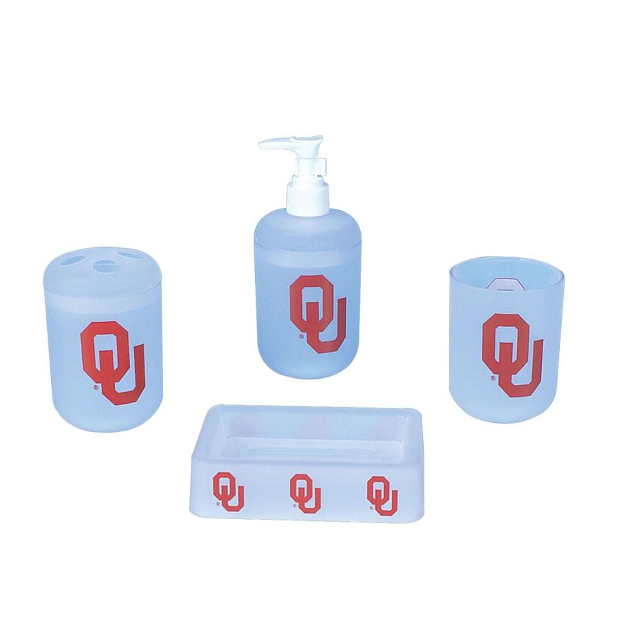 Shop Belle View Oklahoma Sooners Frosty Plastic 4-Piece Bath Set at ...