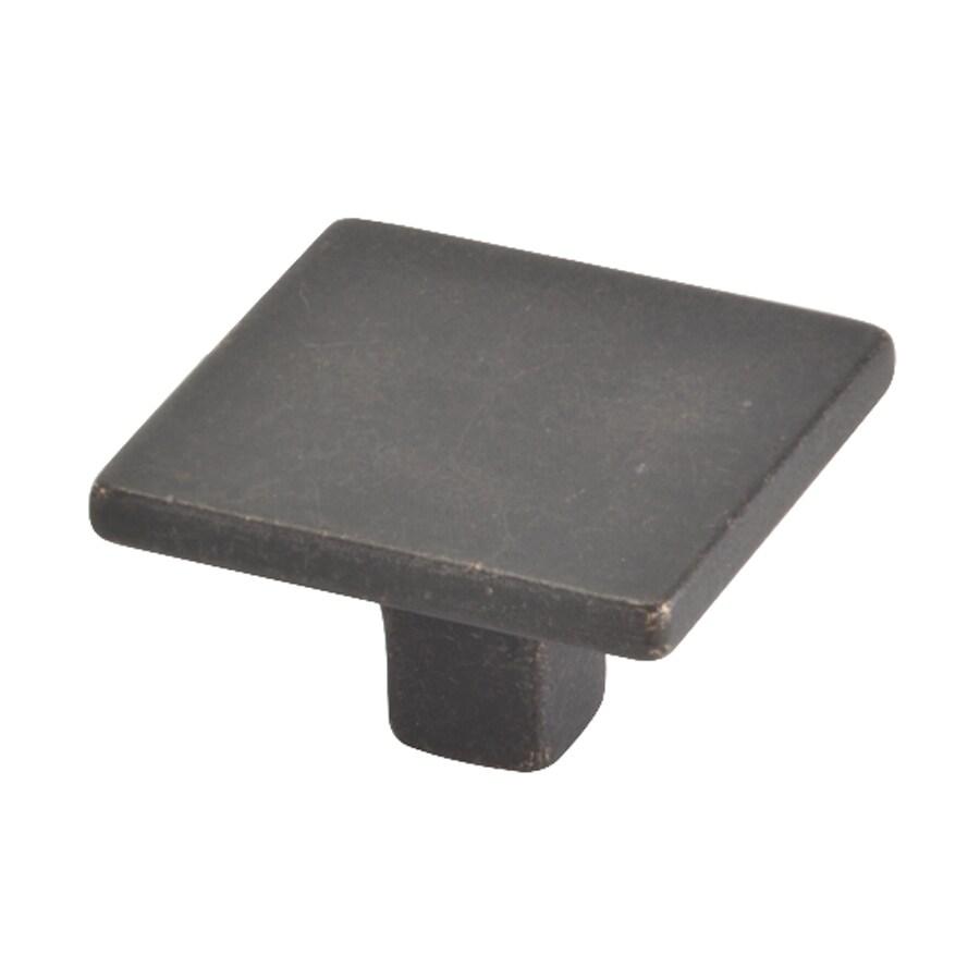 Topex Hardware Italian Designs Bronze Square Cabinet Knob
