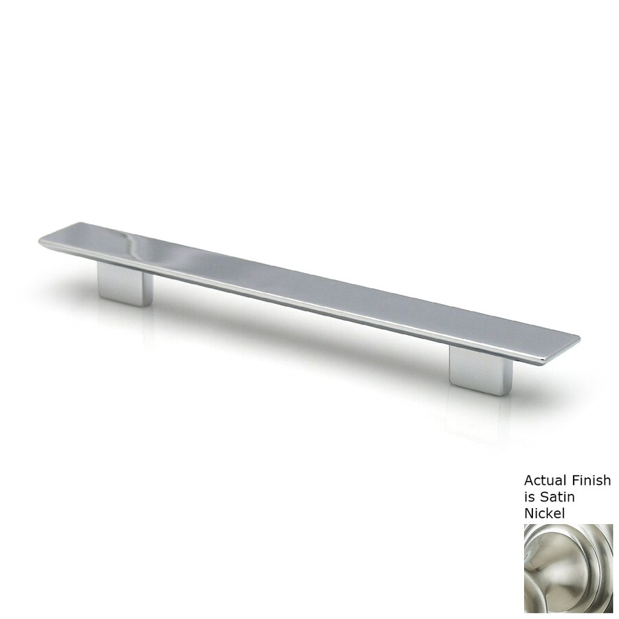 Topex Hardware 3-3/4-in Center-to-Center Satin Nickel Italian Designs Rectangular Cabinet Pull