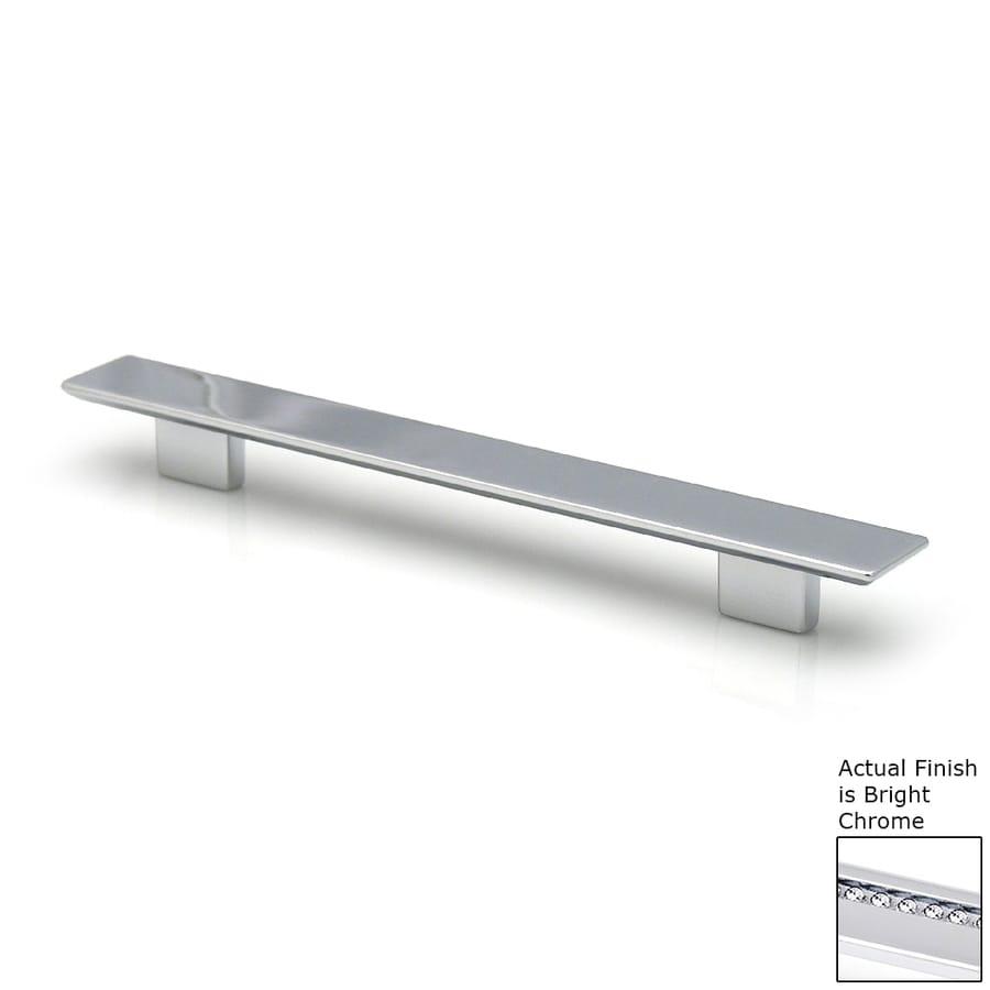 Topex Hardware 3-3/4-in Center-to-Center Bright Chrome Italian Designs Rectangular Cabinet Pull