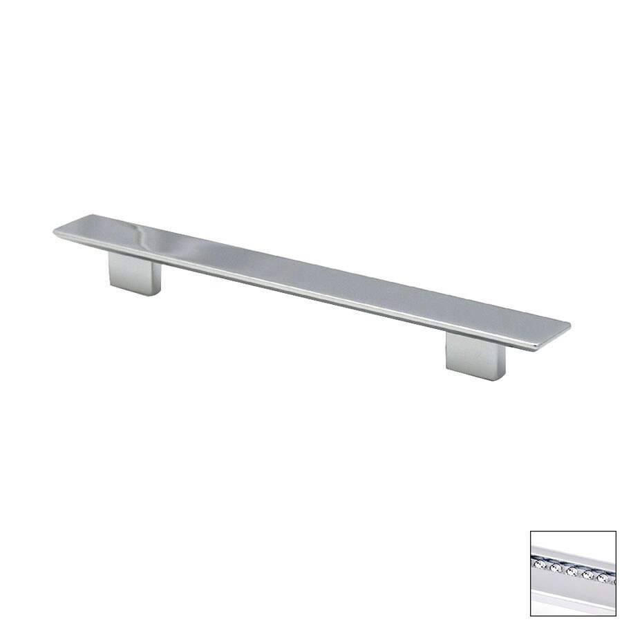 Topex Hardware 6-5/16-in Center-to-Center Bright Chrome Italian Designs Rectangular Cabinet Pull