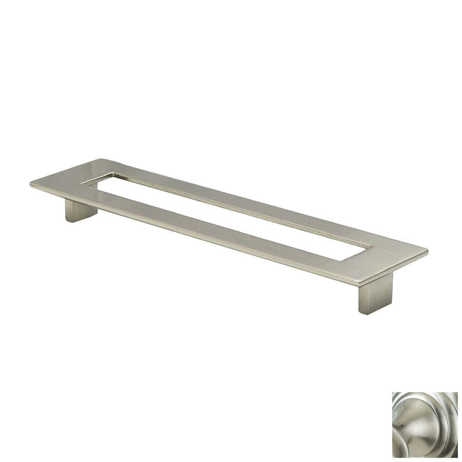 Topex Hardware 7-9/16-in Center-to-Center Satin Nickel Italian Designs Rectangular Cabinet Pull