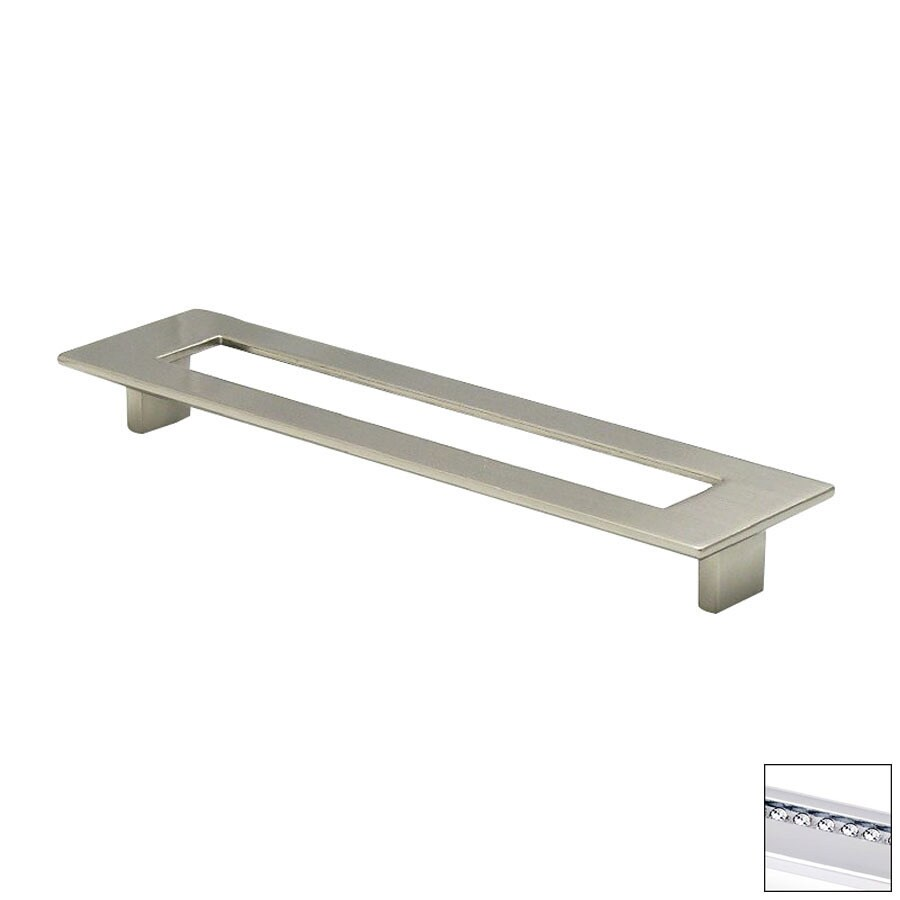 Topex Hardware 7-9/16-in Center-to-Center Bright Chrome Italian Designs Rectangular Cabinet Pull