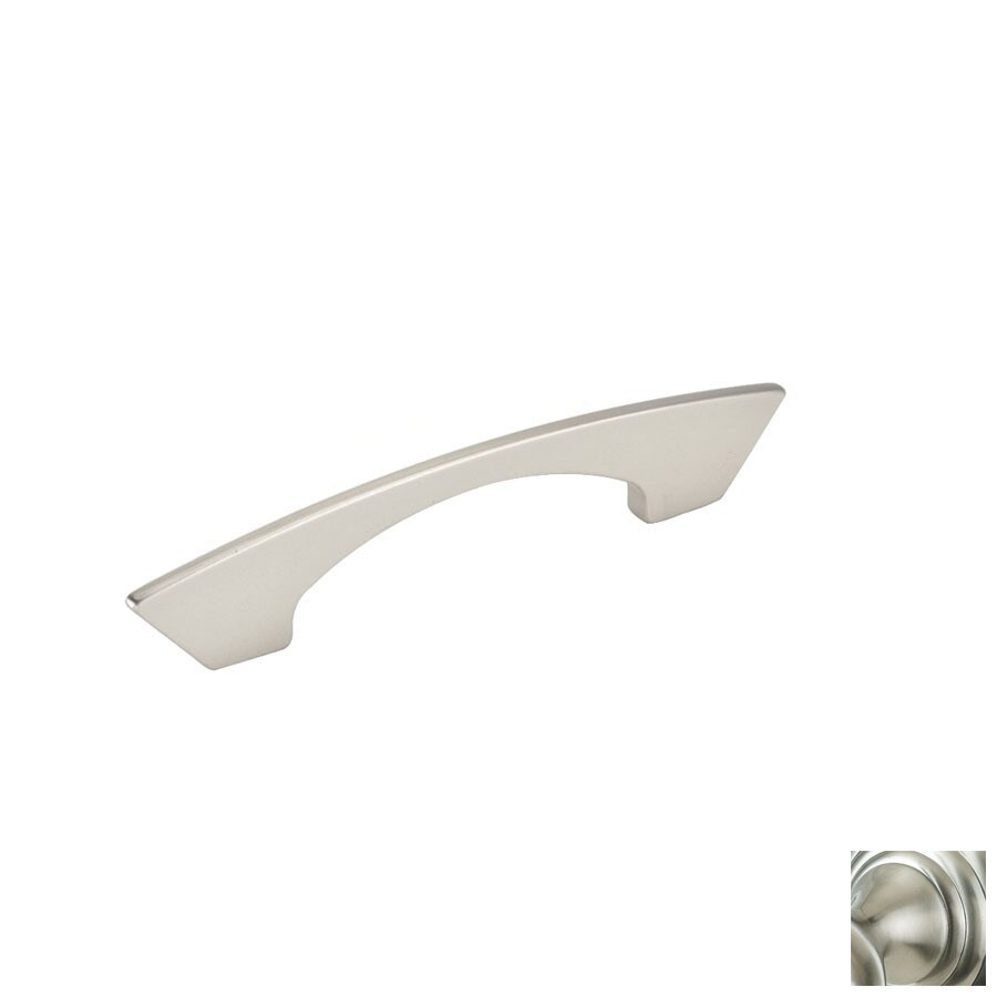 Topex Hardware 3-3/4-in Center-to-Center Satin Nickel Italian Designs Arched Cabinet Pull