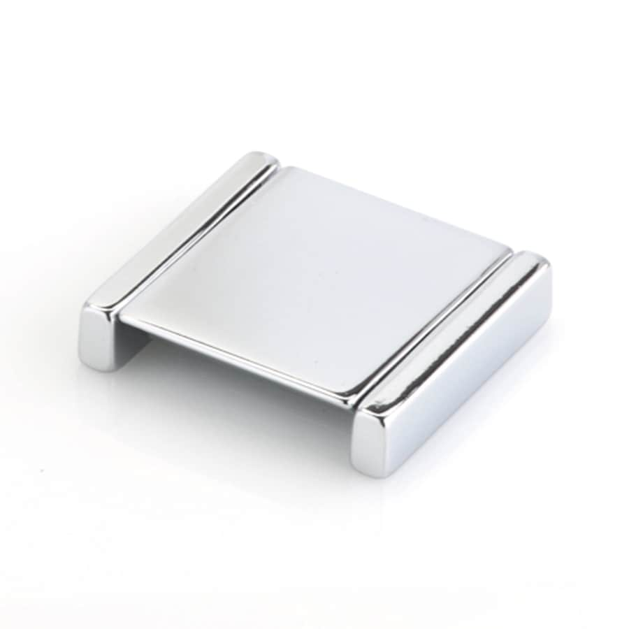 Topex Hardware Italian Designs Bright Chrome Rectangular Cabinet Knob
