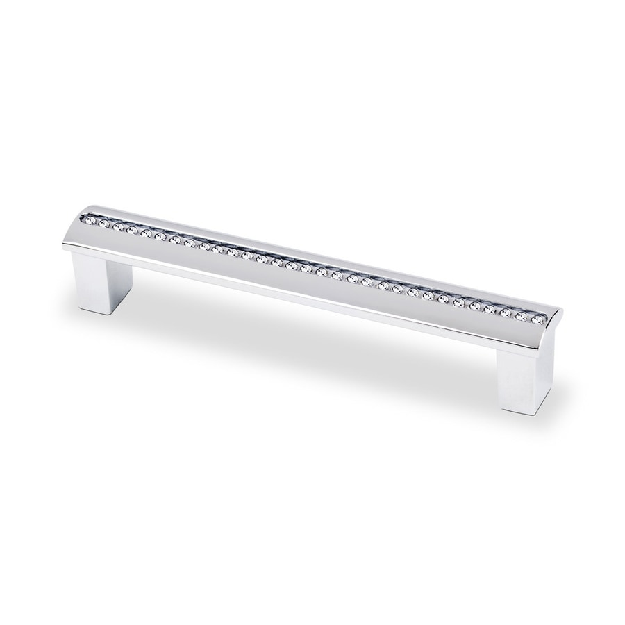 Topex Hardware 3-3/4-in Center-to-Center Bright Chrome Swarovski Crystal Bar Cabinet Pull