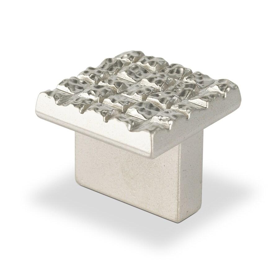 Topex Hardware Mosaic Satin Matte Nickel Square Cabinet Knob