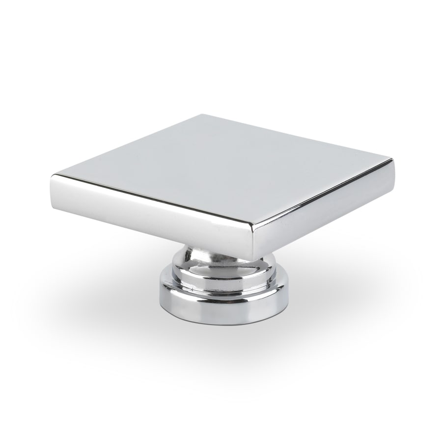 Topex Hardware Contemporary Bright Chrome Square Cabinet Knob