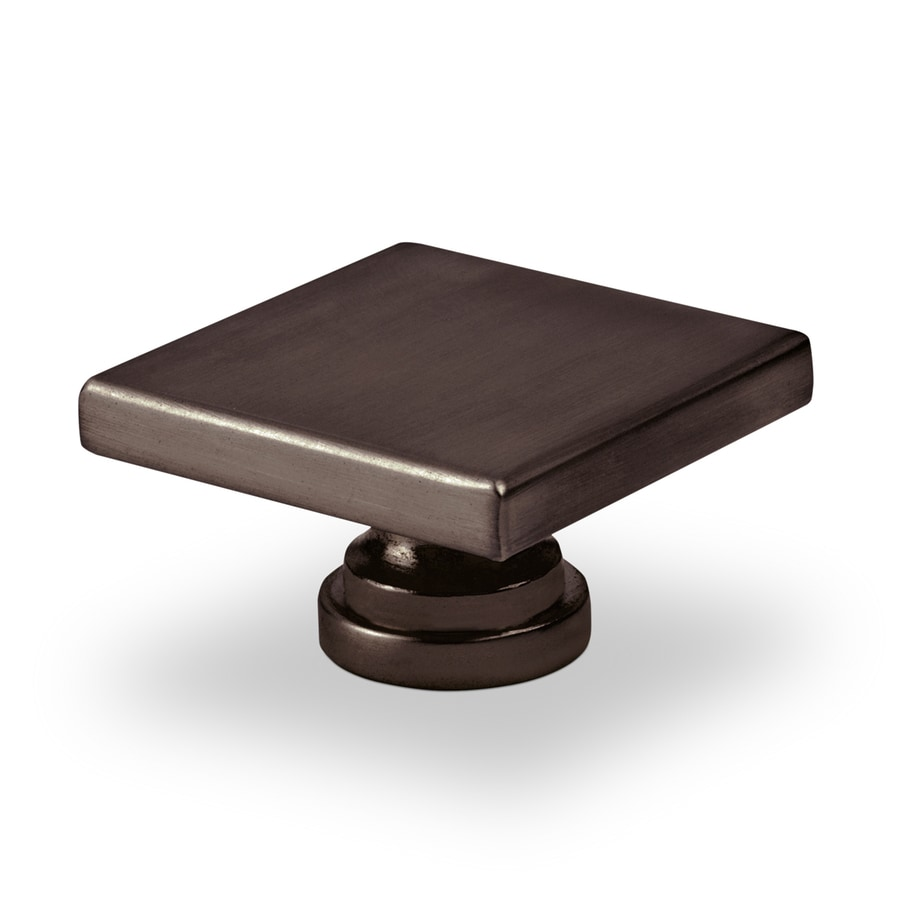 Topex Hardware Contemporary Oil-Rubbed Bronze Square Cabinet Knob
